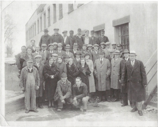 43 Creamery Employees, in it's later years. Courtesy of Milton Historical Society
