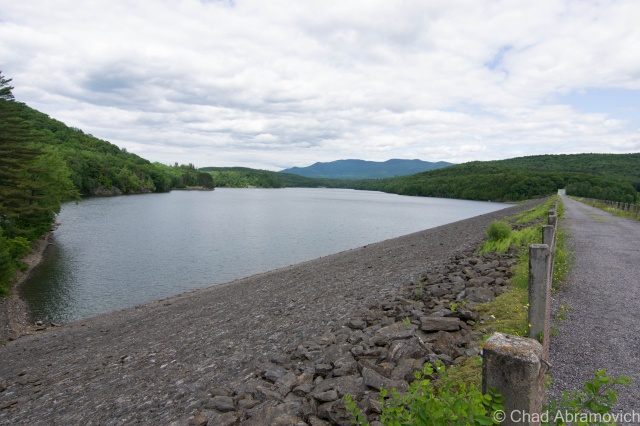 Waterbury Reservoir from dam