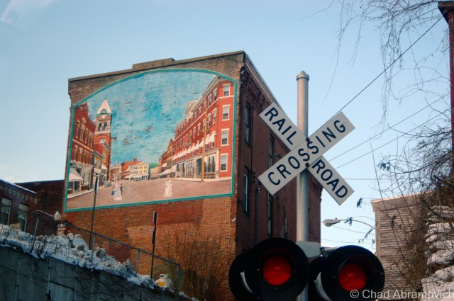 Another Bellows Falls mural.
