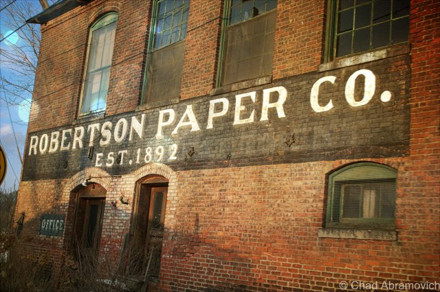 The Robertson Paper Company, another beautiful old building on Factory Island