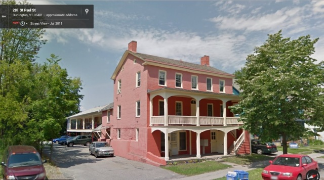 This brick house on St. Paul Street shows that the first floor was at one point the basement.