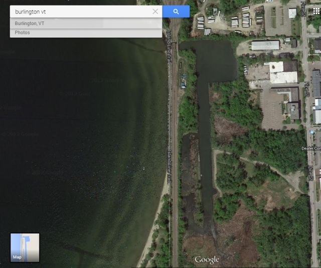 Pine Street Barge Canal today. (via Google maps)