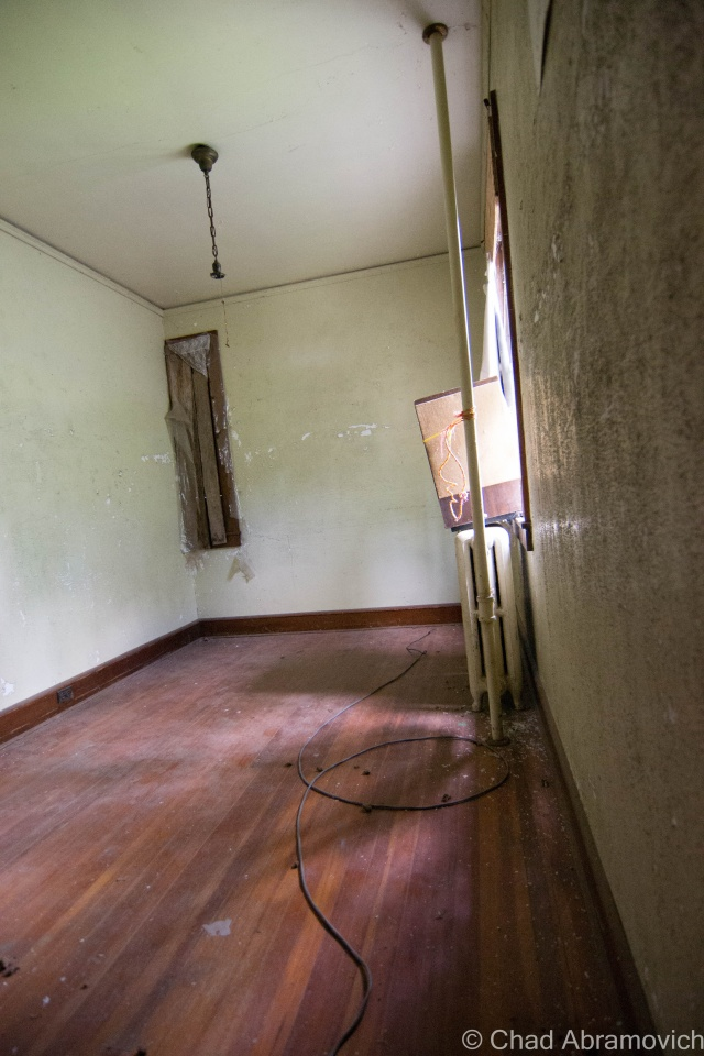 This is Mary's Room, the hospitals most famous haunt. While people speculate that several children who died here still wonder the halls and empty rooms upstairs, Mary is the only one who really has an identity. She was formerly a nurse here, who died tragically by either falling down the very staircase we walked up and broke her neck, or contracted tuberculosis while caring for the sick children and died in her room. Many people have allegedly reported run ins with Mary.