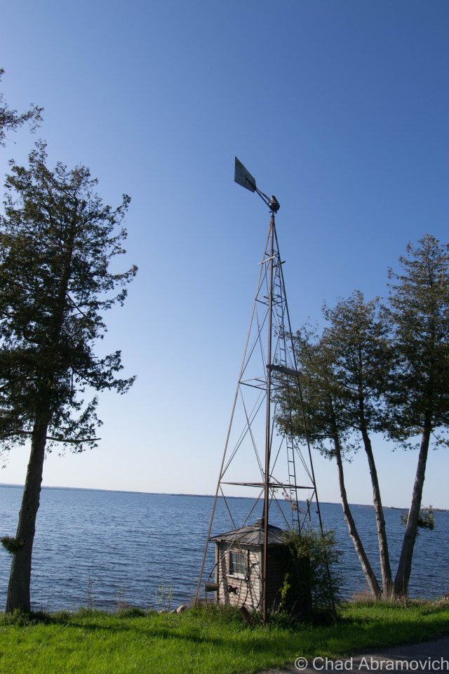 A smaller vestige of Vermont's oil boom in Grand Isle, a former wind (or possibly water powered) pump/drill.