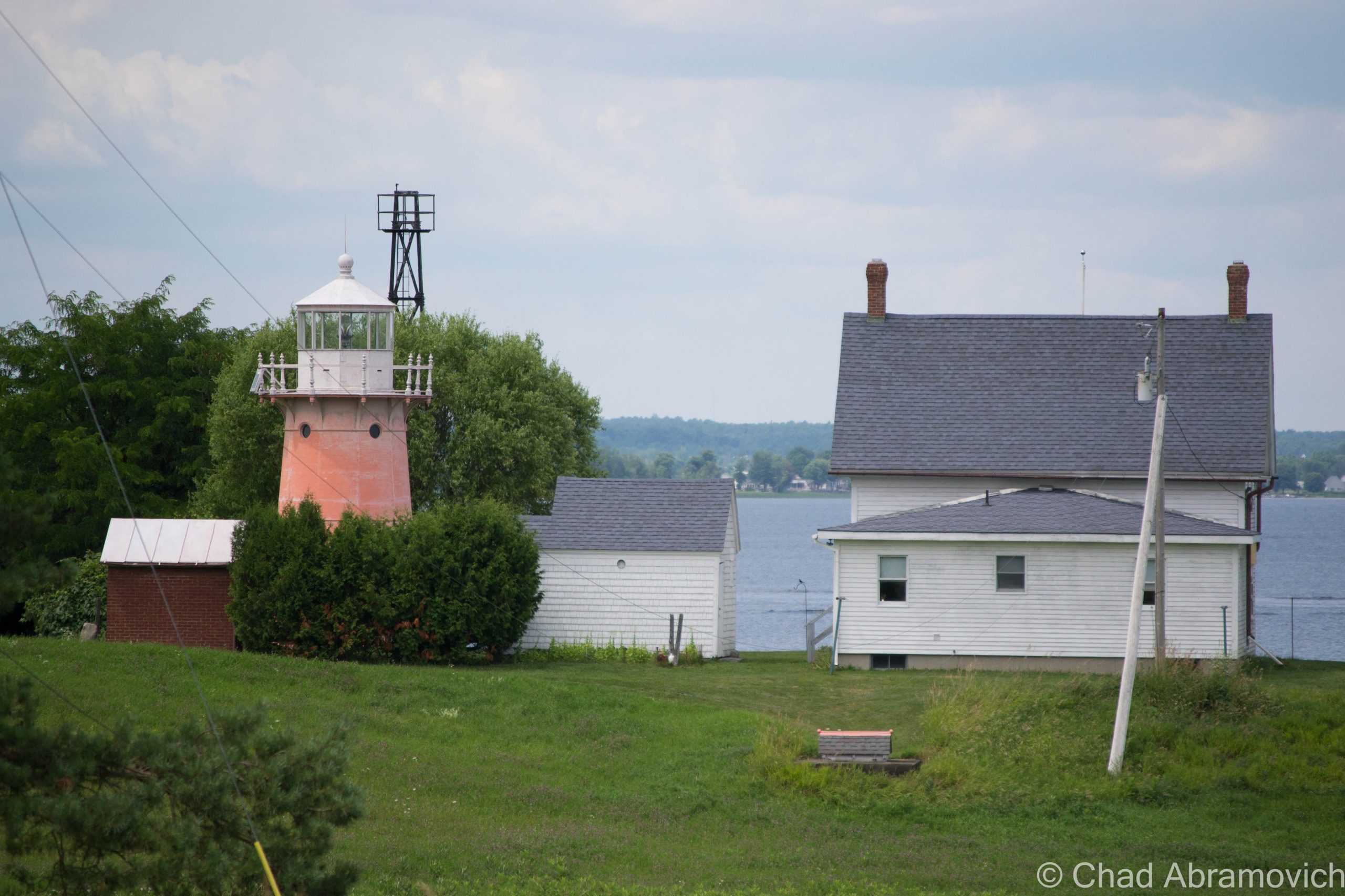 Isle La Motte's Lighthouse, as seen from North Point Road - the best place to get a good view of it, unless you have a boat or a kayak.