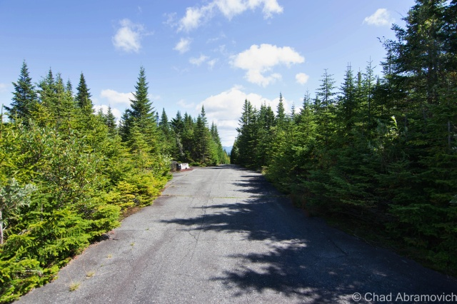 Radar Road on the summit - from there, The Presidential Range in New Hampshire could be seen.