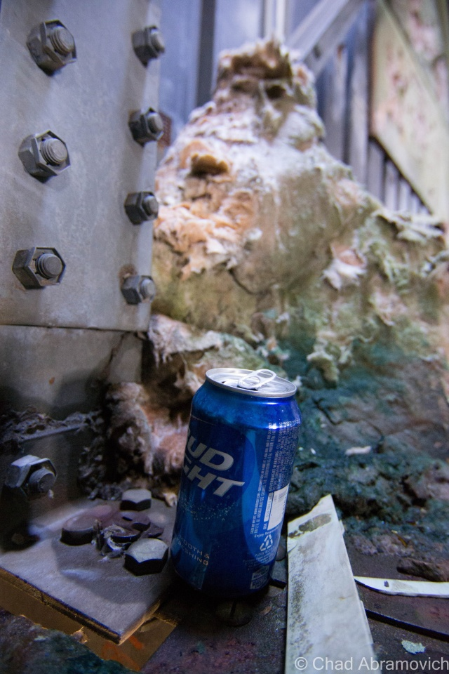 It wouldn't be an adventure if we didn't find a Bud Light can along the way, which seems to be the drink of choice for people who frequent these types of locations.