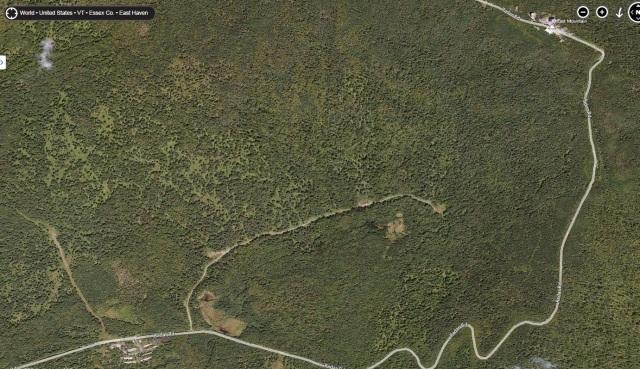The East Mountain Radar Base - satellite view